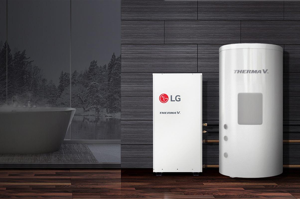 visokotemperaturna toplotna črpalka LG